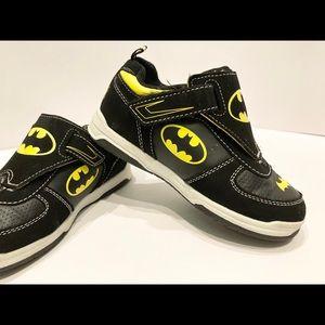 Boy's Batman sz 12, Velcro straps, slip on shoes
